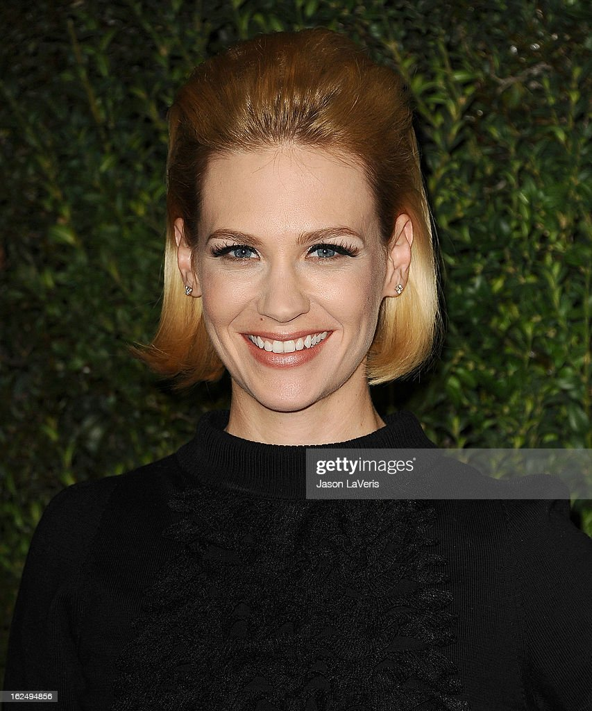 Actress January Jones attends the Chanel Pre-Oscar dinner at Madeo Restaurant on February 23, 2013 in Los Angeles, California.