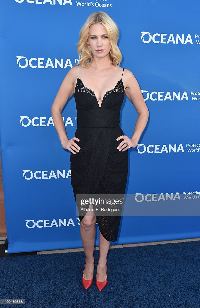 Actress January Jones attends the 'Concert For Our Oceans' hosted by Seth MacFarlane benefitting Oceana at The Wallis Annenberg Center for the...