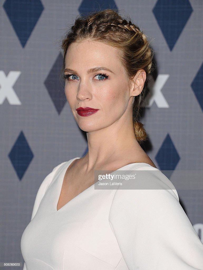 Actress January Jones attends the FOX winter TCA 2016 AllStar party at The Langham Huntington Hotel and Spa on January 15 2016 in Pasadena California
