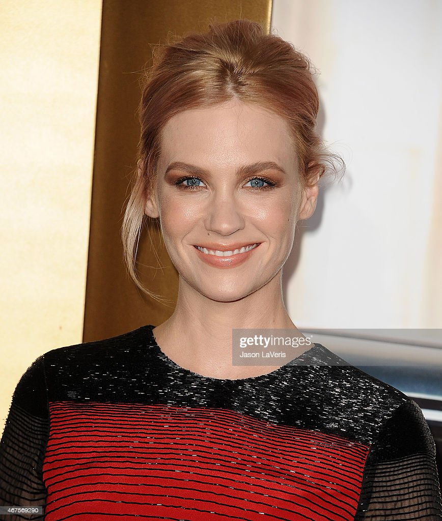 Actress January Jones attends the 'Mad Men' Black & Red Ball at Dorothy Chandler Pavilion on March 25, 2015 in Los Angeles, California.