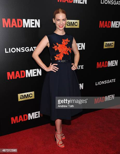 Actress January Jones attends the 'Mad Men' New York special screening at The Museum of Modern Art on March 22 2015 in New York City