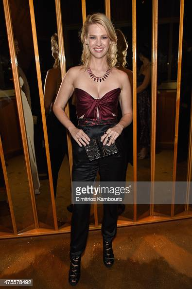 Actress January Jones attends the official CFDA Fashion Awards after party coHosted by Refinery29 at The Top of The Standard on June 1 2015 in New...