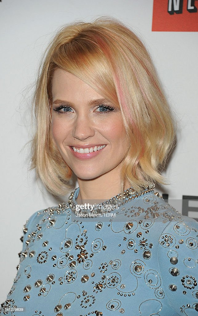 Actress January Jones attends the PaleyFest 2012 honoring of 'Mad Men' held at the Saban Theatre on March 13 2012 in Beverly Hills California