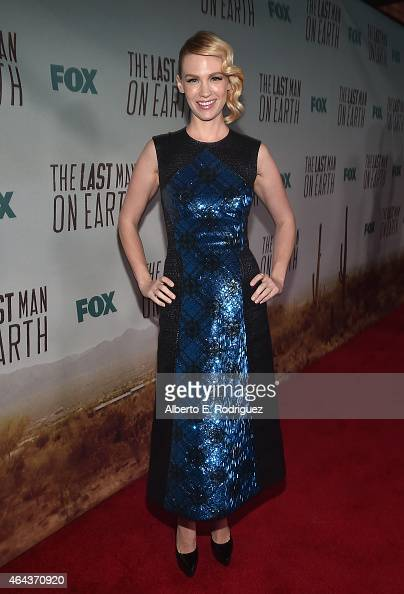 Actress January Jones attends the premiere of Fox's 'The Last Man On Earth' at Big Daddy's Antique Shop on February 24 2015 in Los Angeles California