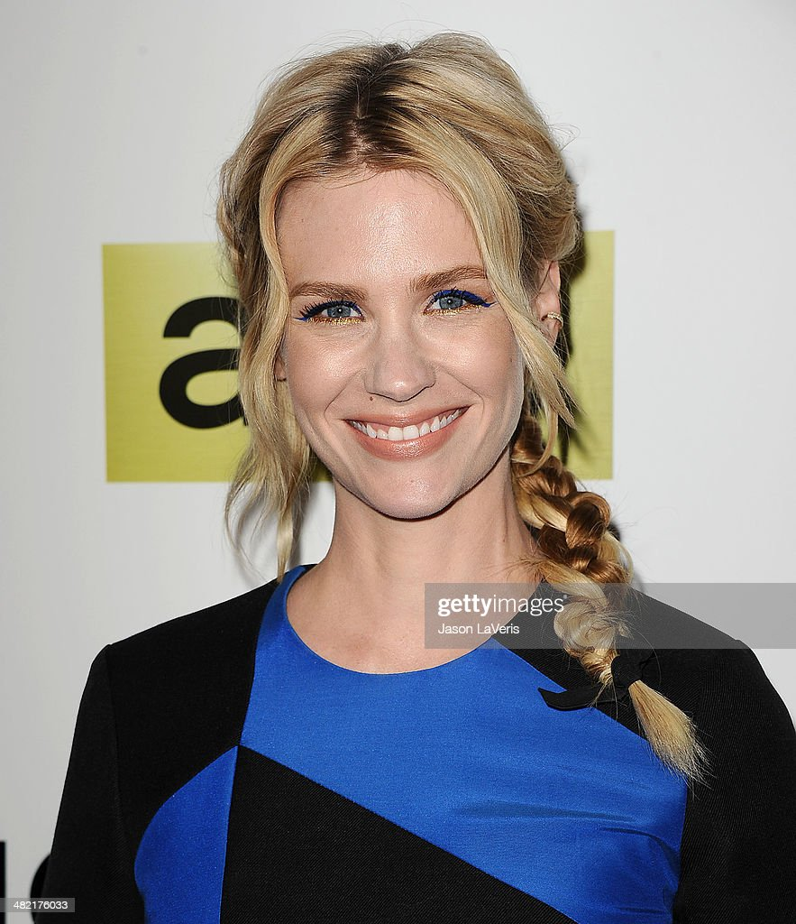 Actress <a gi-track='captionPersonalityLinkClicked' href=/galleries/search?phrase=January+Jones&family=editorial&specificpeople=212949 ng-click='$event.stopPropagation()'>January Jones</a> attends the season 7 premiere of 'Mad Men' at ArcLight Cinemas on April 2, 2014 in Hollywood, California.