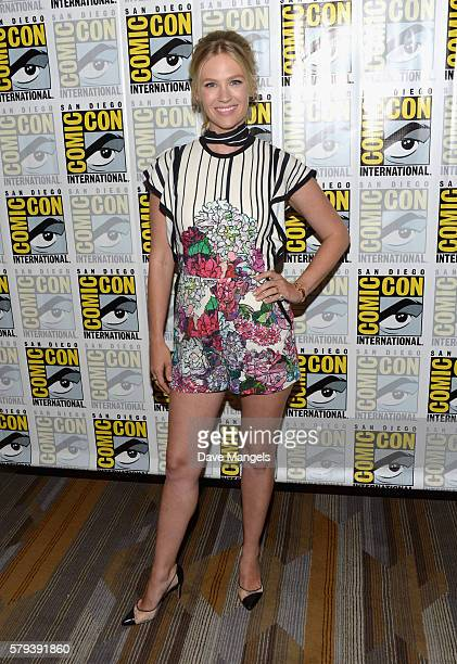 Actress January Jones attends the 'The Last Man On Earth' press line during ComicCon International on July 23 2016 in San Diego California