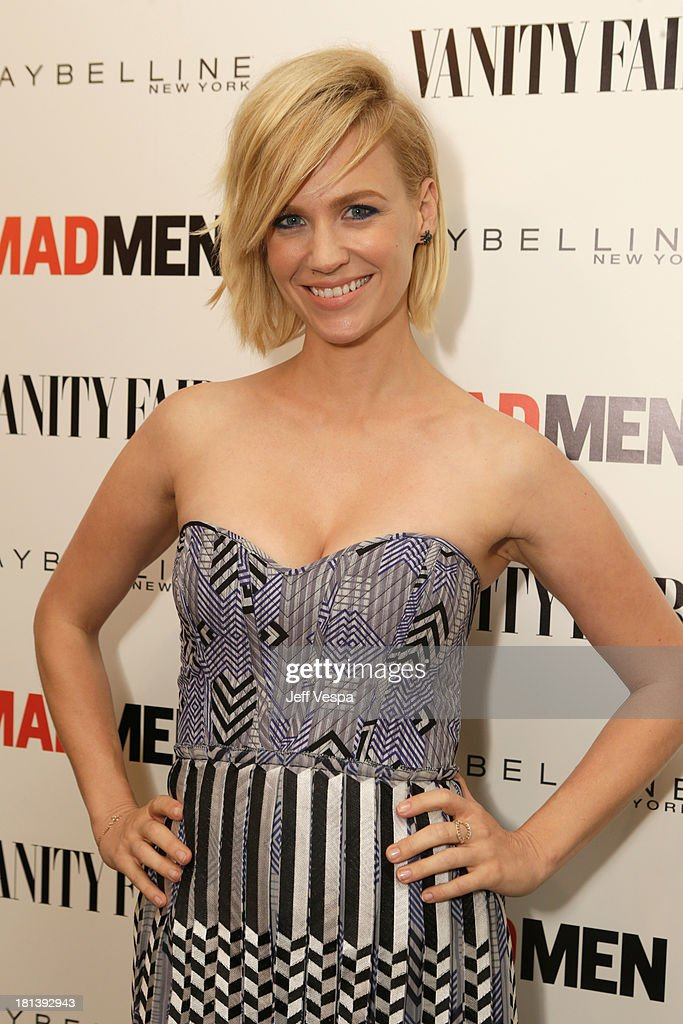 Actress <a gi-track='captionPersonalityLinkClicked' href=/galleries/search?phrase=January+Jones&family=editorial&specificpeople=212949 ng-click='$event.stopPropagation()'>January Jones</a> attends Vanity Fair and Maybelline toast to 'Mad Men' at Chateau Marmont on September 20, 2013 in Los Angeles, California.