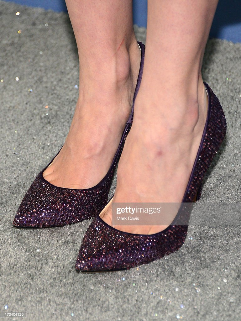 Actress January Jones (shoe detail) attends Women In Film's 2013 Crystal + Lucy Awards at The Beverly Hilton Hotel on June 12, 2013 in Beverly Hills, California.