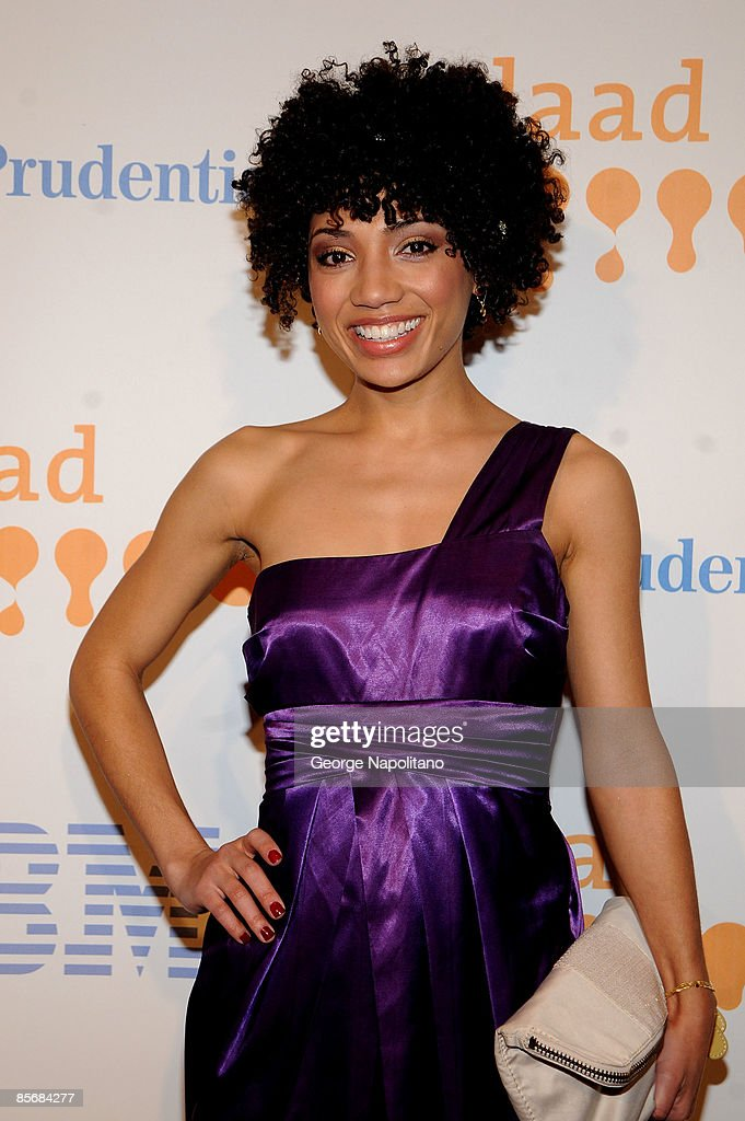 Actress Jasika Nicole arrives at the 20th Annual GLAAD Media Awards at the Marriott Marquis on March 28, 2009 in New York City.