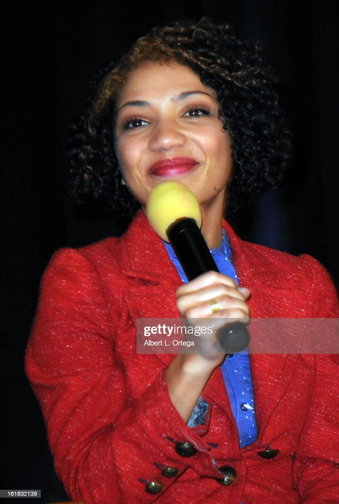 Actress Jasika Nicole attends Creation Entertainment's Grand Slam Convention: The Star Trek And Sci-Fi Summit held at Burbank Marriott Convention Center on February 16, 2013 in Burbank, California.