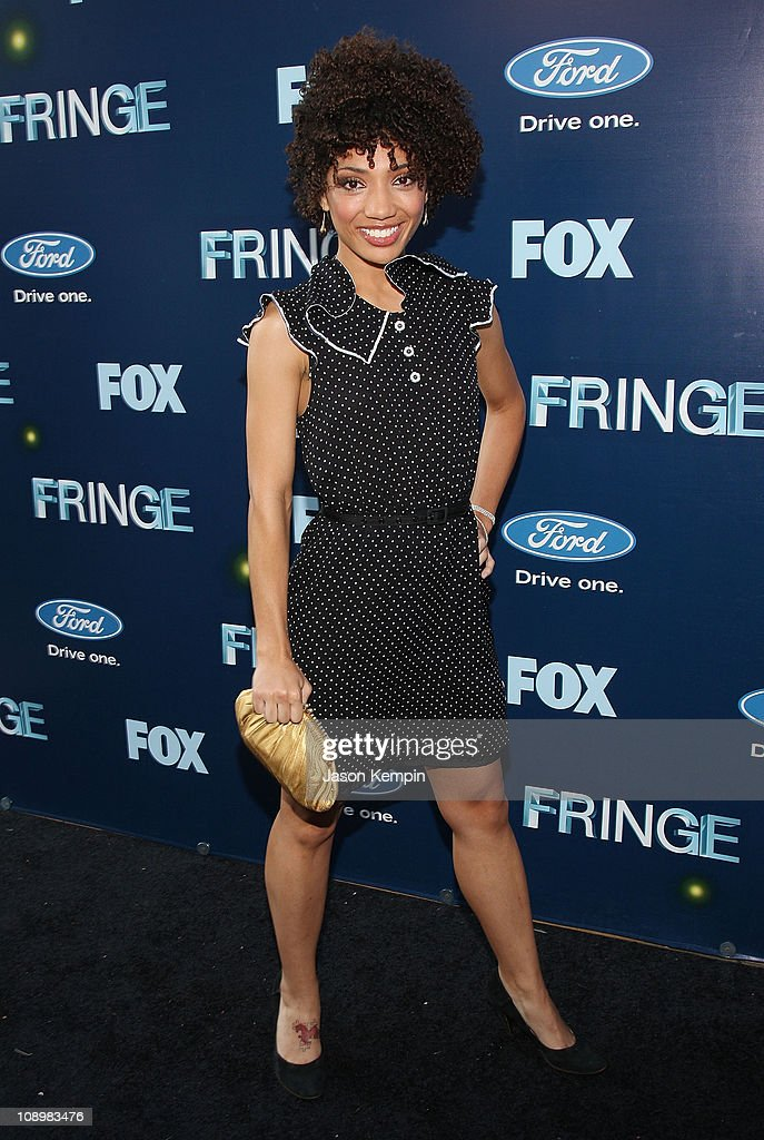 Actress Jasika Nicole attends 'Fringe' New York premiere party at The Xchange on August 25, 2008 in New York City.