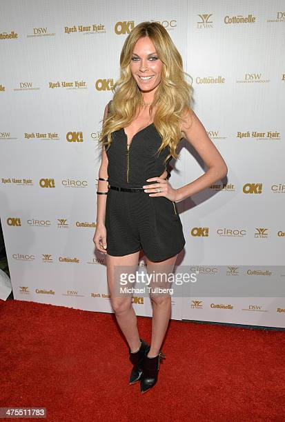 Actress Jasmin Dustin attends OK Magazine's PreOscar Party at Greystone Manor Supperclub on February 27 2014 in West Hollywood California