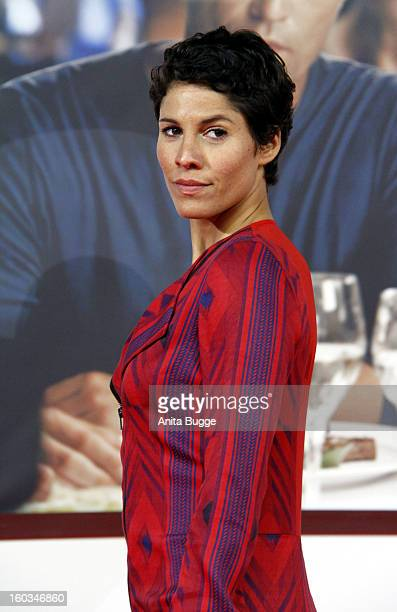 Actress Jasmin Gerat attends the 'Kokowaeaeh 2' Germany Premiere at Cinestar Potsdamer Platz on January 29 2013 in Berlin Germany