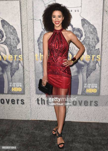 Actress Jasmin Savoy Brown arrives at the Season 3 Premiere of 'The Leftovers' at Avalon Hollywood on April 4 2017 in Los Angeles California