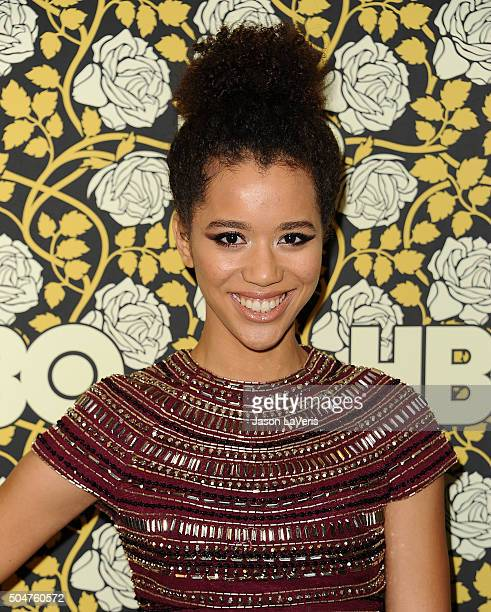 Actress Jasmin Savoy Brown attends HBO's post 2016 Golden Globe Awards party at Circa 55 Restaurant on January 10 2016 in Los Angeles California
