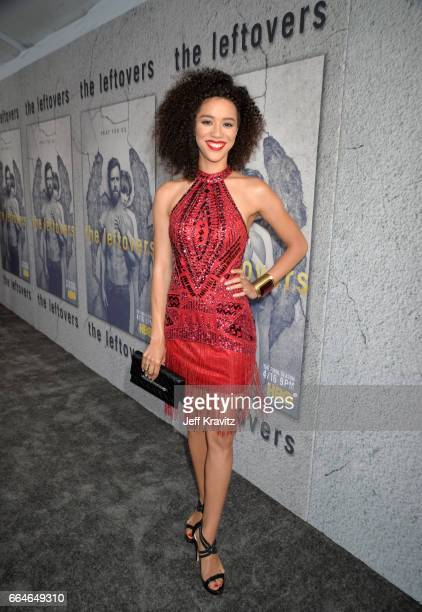 Actress Jasmin Savoy Brown attends HBO's 'The Leftovers' season 3 premiere and after party at Avalon Hollywood on April 4 2017 in Los Angeles...