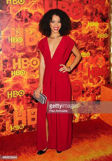 Actress Jasmin Savoy Brown attends the HBO's Official 2015 Emmy After Party at The Plaza at the Pacific Design Center on September 20 2015 in Los...