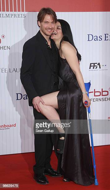 Actress Jasmin Tabatabai and actor Andreas Pietschmann the German film award at Friedrichstadtpalast on April 23 2010 in Berlin Germany
