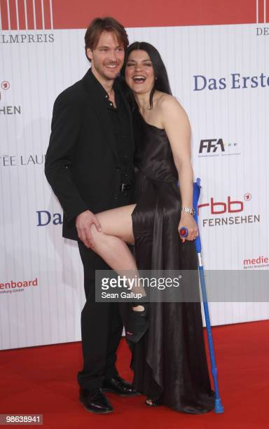 Actress Jasmin Tabatabai and Andreas Pietschmann attend the German film award at Friedrichstadtpalast on April 23 2010 in Berlin Germany