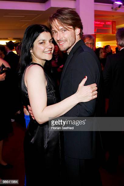 Actress Jasmin Tabatabai and boyfriend Andreas Pietschmann attend the afterparty of the German film award 'Deutscher Filmpreis' at...