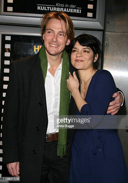 Actress Jasmin Tabatabai and her boyfriend Andreas Pietschmann attend the 'Control' premiere on January 4 2008 in Berlin Germany