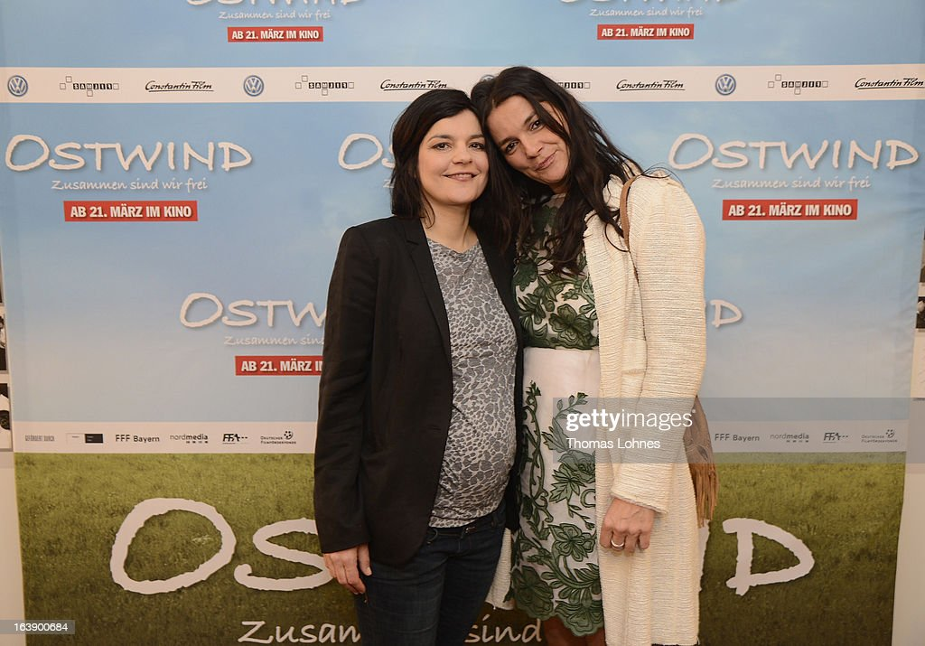 Actress Jasmin Tabatabei (L) and director <a gi-track='captionPersonalityLinkClicked' href=/galleries/search?phrase=Katja+von+Garnier&family=editorial&specificpeople=213790 ng-click='$event.stopPropagation()'>Katja von Garnier</a> attend the premiere of the film 'Ostwind' on March 17, 2013 in Frankfurt am Main, Germany. The family film portrays the friendship between the young Mika and the wild and shy stallion 'Ostwind' (east wind).