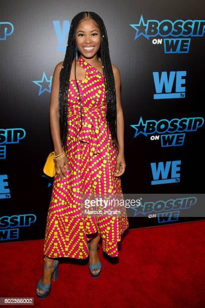 Actress Jasmine Burke attends 'Bossip On WE' Atlanta launch celebration at Elevate at W Atlanta Midtown on June 27 2017 in Atlanta Georgia