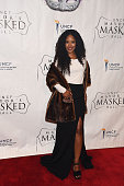 Actress Jasmine Burke atttend the 31st Annual UNCF Mayor's Masked Ball at Marriott Marquis Hotel on December 20 2014 in Atlanta Georgia