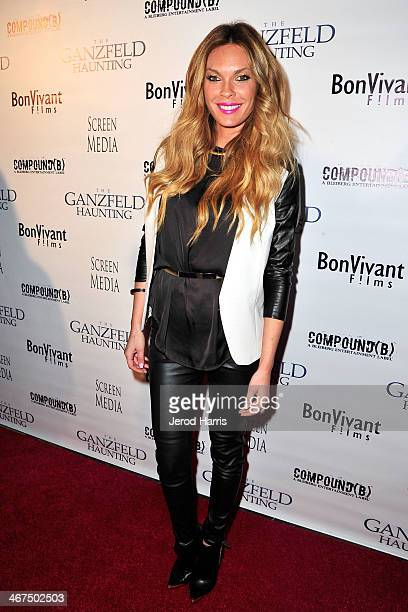 Actress Jasmine Dustin arrives at the Los Angeles Premiere of 'Ganzfeld Haunting' at Laemmle Beverly Hills on February 6 2014 in Beverly Hills...