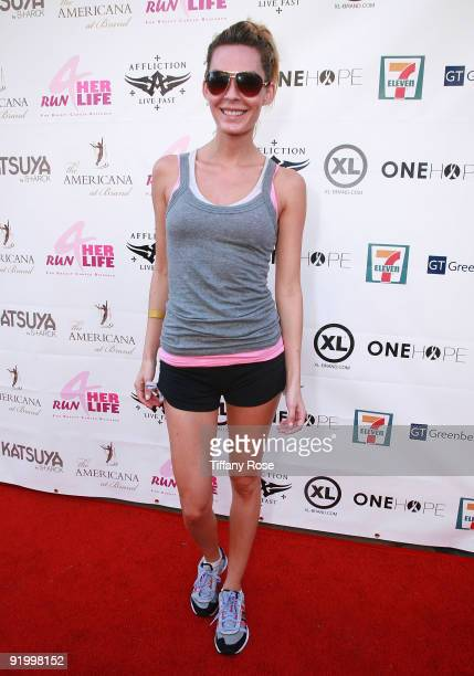 Actress Jasmine Dustin attends 'Run For Her Life' Benefitting Breast Cancer Research on October 18 2009 in Glendale California
