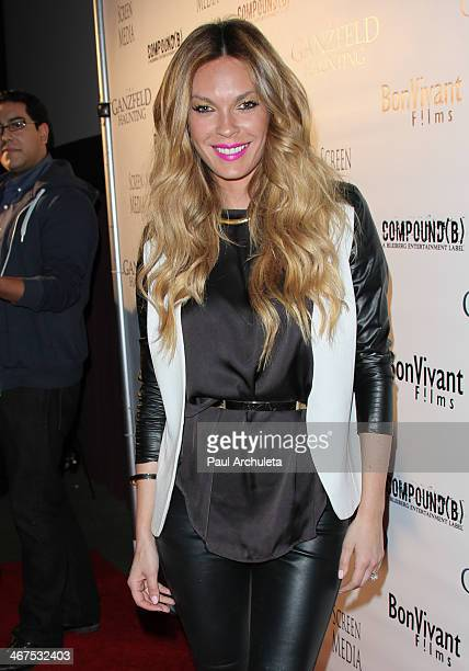 Actress Jasmine Dustin attends the premiere of 'Ganzfeld Haunting' at the Laemmle Theaters in Beverly Hills on February 6 2014 in Beverly Hills...