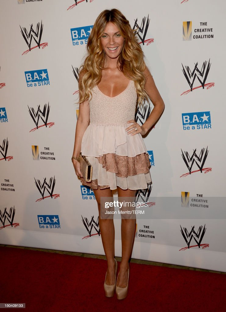 Actress Jasmine Dustin attends the WWE SummerSlam VIP Kick-Off Party at Beverly Hills Hotel on August 16, 2012 in Beverly Hills, California.