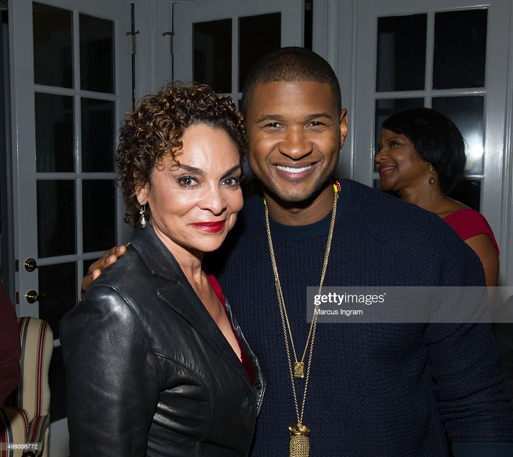 Actress <a gi-track='captionPersonalityLinkClicked' href=/galleries/search?phrase=Jasmine+Guy&family=editorial&specificpeople=217343 ng-click='$event.stopPropagation()'>Jasmine Guy</a> and singer <a gi-track='captionPersonalityLinkClicked' href=/galleries/search?phrase=Usher+-+S%C3%A5ngare&family=editorial&specificpeople=201477 ng-click='$event.stopPropagation()'>Usher</a> attend an intimate gathering in honor of Norman Lear at Morehouse College on November 30, 2015 in Atlanta, Georgia.