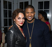 Actress Jasmine Guy and singer Usher attend an intimate gathering in honor of Norman Lear at Morehouse College on November 30 2015 in Atlanta Georgia