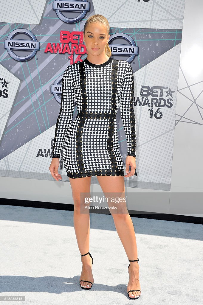 Actress Jasmine Sanders attends the 2016 BET Awards at Microsoft Theater on June 26, 2016 in Los Angeles, California.