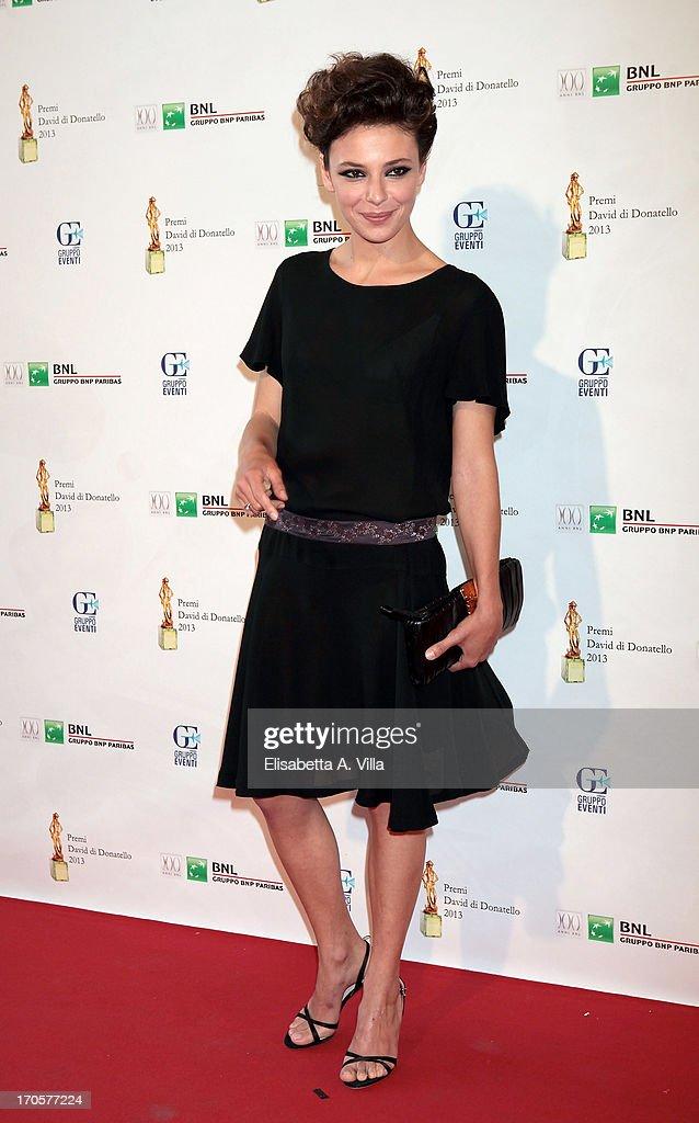 Actress Jasmine Trinca attends 2013 Premi David di Donatello Ceremony Awards at Dear RAI Studios on June 14, 2013 in Rome, Italy.