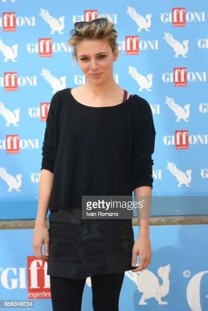 Actress Jasmine Trinca attends a photocall after the movie preview of 'Slam Tutto per una ragazza' at the Cittadella del Cinema on March 21 2017 in...