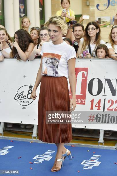 Actress Jasmine Trinca attends Giffoni Film Festival 2017 Day 1 Blue Carpet on July 14 2017 in Giffoni Valle Piana Italy