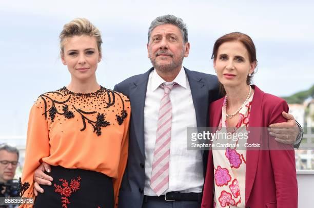 Actress Jasmine Trinca Director Sergio Castellitto and Screenwriter Margaret Mazzantini attend the 'Fortunata' photocall during the 70th annual...