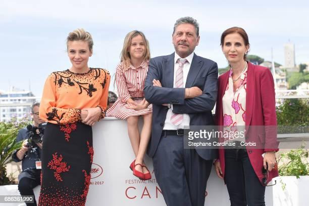 Actress Jasmine Trinca Nicole Centanni Director Sergio Castellitto and Screenwriter Margaret Mazzantini attend the 'Fortunata' photocall during the...