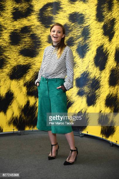 Actress Jasna Fritzi Bauer poses during 'Goliath' photocall during the 70th Locarno Film Festival on August 7 2017 in Locarno Switzerland