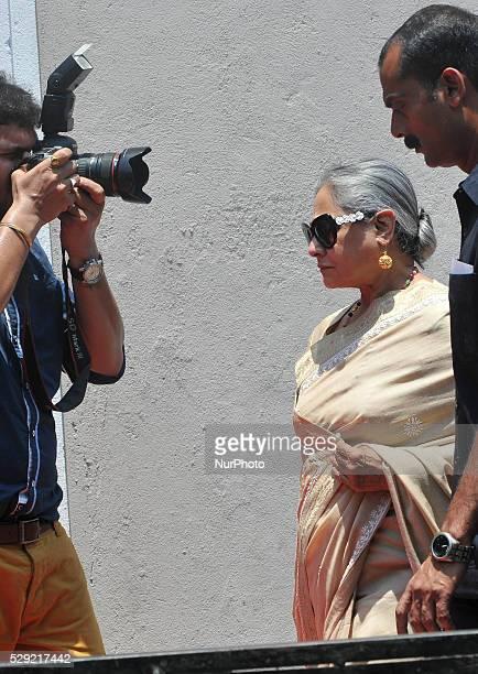 Actress Jaya Bachchan during the Kalyan Jewelle's new showroom inauguration ceremony in Kolkata India on May 8 2016