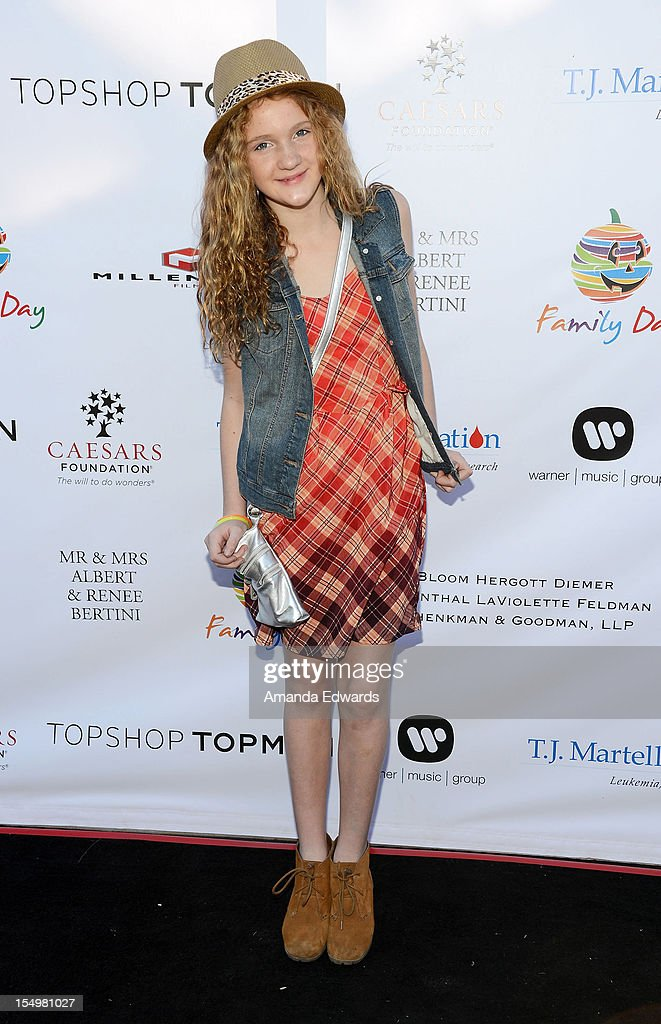 Actress Jaycie Walker arrives at the TJ Martell Foundation 4th Annual Family Day LA at CBS Studios - Radford on October 28, 2012 in Studio City, California.