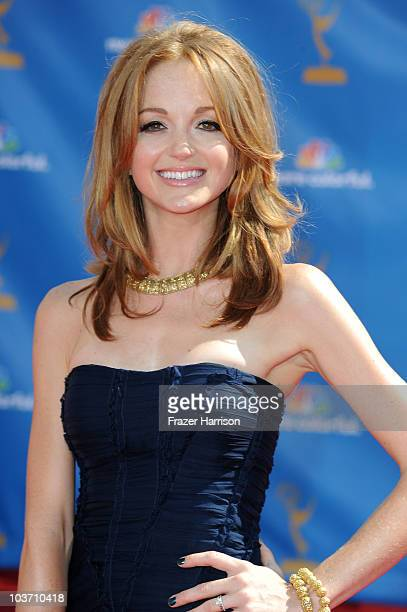 Actress Jayma Mays arrives at the 62nd Annual Primetime Emmy Awards held at the Nokia Theatre LA Live on August 29 2010 in Los Angeles California