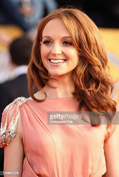 Actress Jayma Mays arrives at the TNT/TBS broadcast of the 17th Annual Screen Actors Guild Awards held at The Shrine Auditorium on January 30 2011 in...