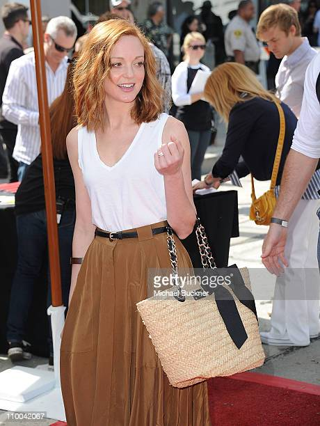 Actress Jayma Mays attends John Varvatos' 8th Annual Stuart House Benefit at the John Vavatos Store on March 13 2011 in West Hollywood California
