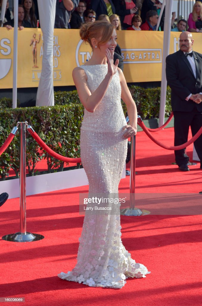 Actress Jayma Mays attends the 19th Annual Screen Actors Guild Awards at The Shrine Auditorium on January 27, 2013 in Los Angeles, California. (Photo by Larry Busacca/WireImage) 23116_018_0155.JPG