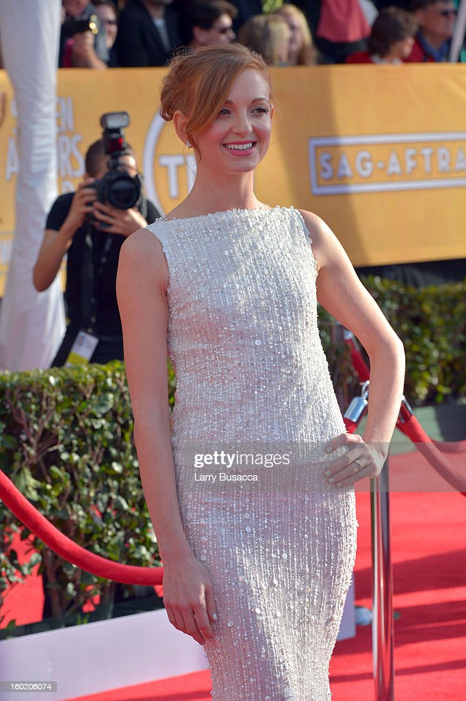 Actress Jayma Mays attends the 19th Annual Screen Actors Guild Awards at The Shrine Auditorium on January 27, 2013 in Los Angeles, California. (Photo by Larry Busacca/WireImage) 23116_018_0150.JPG
