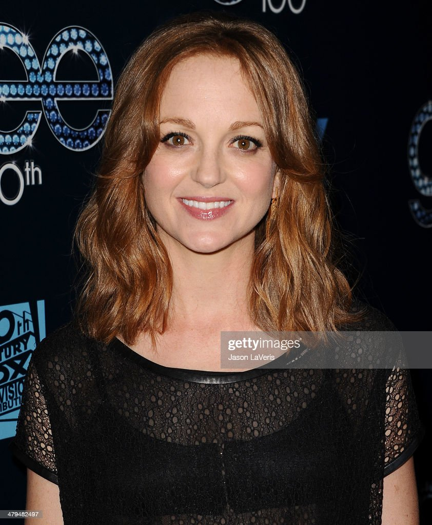 Actress <a gi-track='captionPersonalityLinkClicked' href=/galleries/search?phrase=Jayma+Mays&family=editorial&specificpeople=2294638 ng-click='$event.stopPropagation()'>Jayma Mays</a> attends the 'Glee' 100th episode celebration at Chateau Marmont on March 18, 2014 in Los Angeles, California.