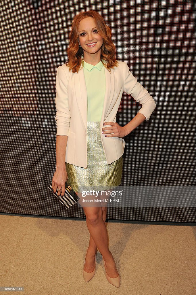 Actress Jayma Mays attends the Marni at HM Collection Launch at Lloyd Wright's Sowden House on February 17 2012 in Los Angeles California